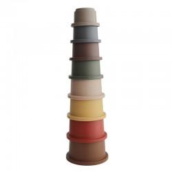 Mushie Wieża z kubeczków Stacking Tower Retro