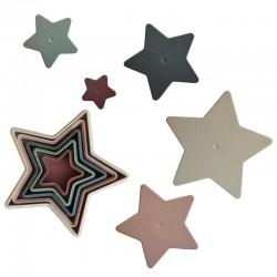 Mushie Piramidka sensoryczna NESTING STAR