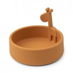 Peekaboo Miseczka Silikonowa Raffi Mustard Done by Deer
