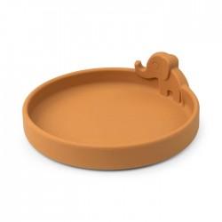 Peekaboo Talerzyk Silikonowy Elphee Mustard Done by Deer