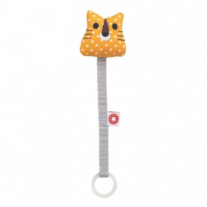Zawieszka do smoczka żółty tygrysek
