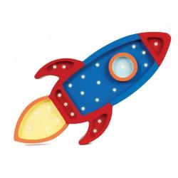 Lampa Little Lights rakieta granatowy/czerwony
