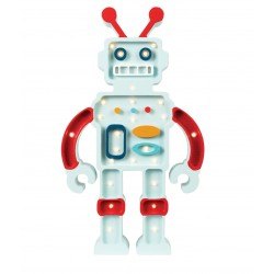 Lampa Little Lights robot błękit/czerwień