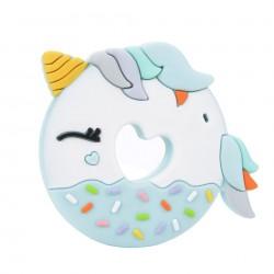 Gryzak silikonowy Unicorn Donut Blue