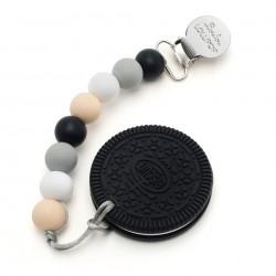 Gryzak silikonowy z zawieszką Black Cookie Black Neutral