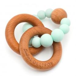 Gryzak drewniany z koralikami Bubble Mint