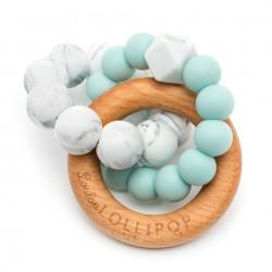 Gryzak drewniany z koralikami Trinity Robin Egg Blue