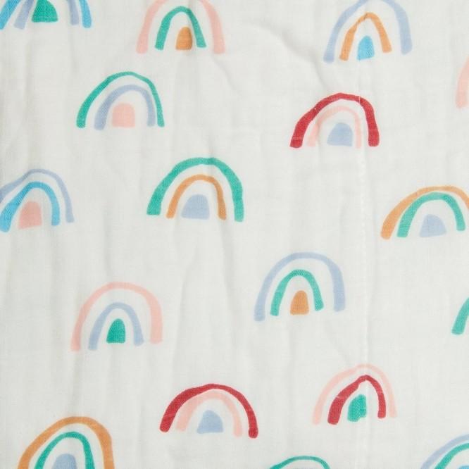Otulacz Muślina bambusowa Llama Rainbow