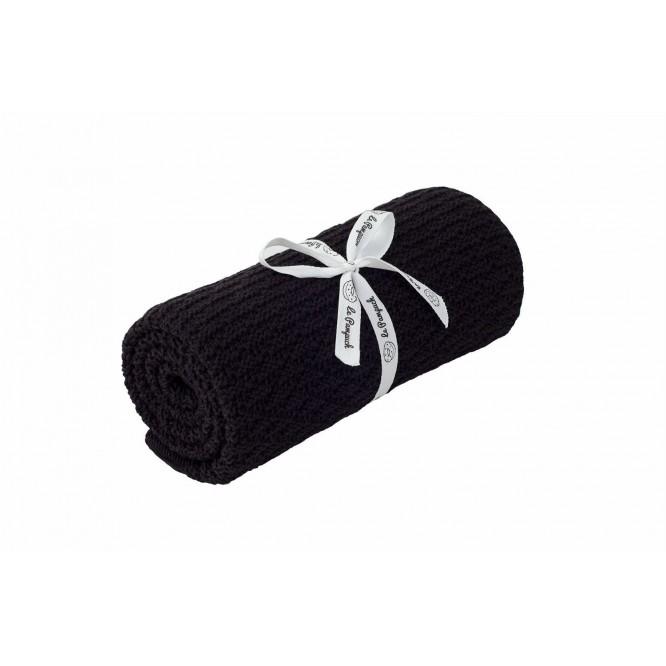 Kocyk bambusowo-bawełniany czarny