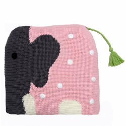 Szydełkowa poduszka Wilfred różowy słoń