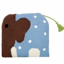 Szydełkowa poduszka Wilfred niebieski słoń