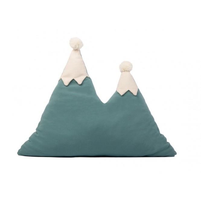 Poduszka Nobodinoz Snowy Mountain magic green