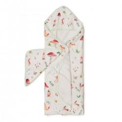 Muślinowy ręcznik kąpielowy Woodland gnome