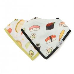 Muślinowy śliniak set Sushi