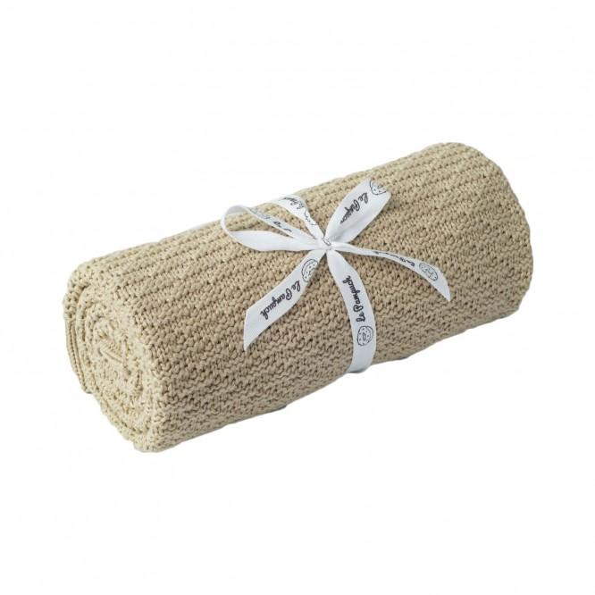 Kocyk bambusowo-bawełniany ciepły piasek