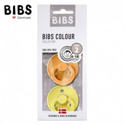 2 Pack BIBS Colour M Clear Apricot & Pineapple