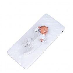 Oddychające łóżeczko dostawne Little Chic London białe