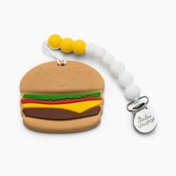 Gryzak silikonowy z zawieszką Burger