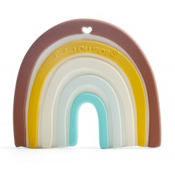 Gryzak silikonowy neutral rainbow Loulou Lollipop