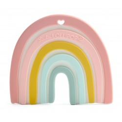 Gryzak silikonowy pastel rainbow Loulou Lollipop