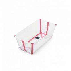 Wanienka Flexi Bath Transparent Pink STOKKE