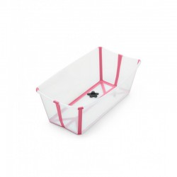 Wanienka Flexi Bath Transparent Pink STOKKE
