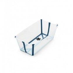 Wanienka Flexi Bath Transparent Blue STOKKE