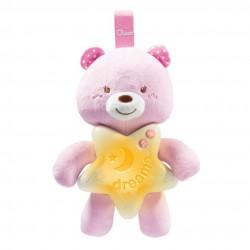 Chicco miś na dobranoc różowy
