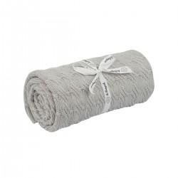 Kocyk bambus- bawełna warkocz koral