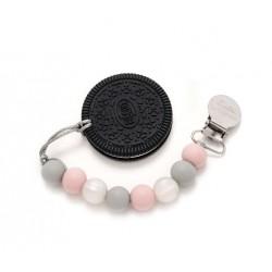 Gryzak silikonowy z zawieszką Black Cookie Loulou Lollipop