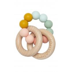 Gryzak drewniany z koralikami Bubble Marble