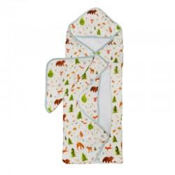 Muślinowy ręcznik kąpielowy Wild rose Loulou Lollipop