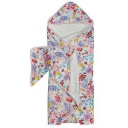 Muślinowy ręcznik kąpielowy Light Field Flowers Loulou Lollipop