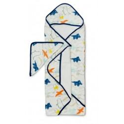Muślinowy ręcznik kąpielowy Dinoland