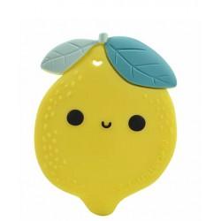 Gryzak silikonowy z zawieszką Lemon