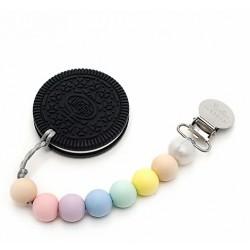 Gryzak silikonowy z zawieszką Cookie Cotton Candy
